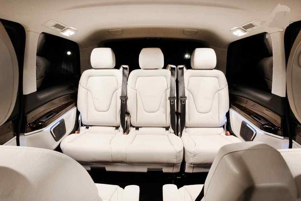 Chauffeur driven Mercedes V Class Viano Van Interior