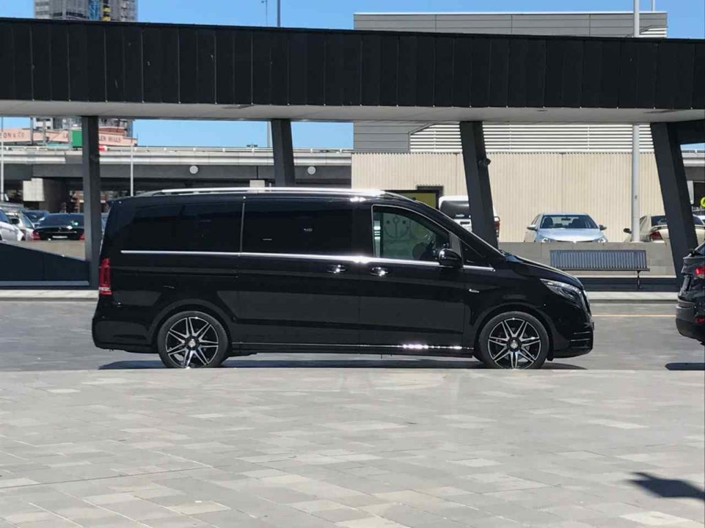 chauffeur driven mercedes Van  for wedding transfer in Parkville