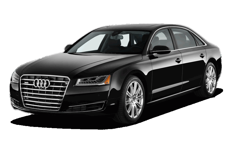 chauffeur driven cars black Audi a8 luxury