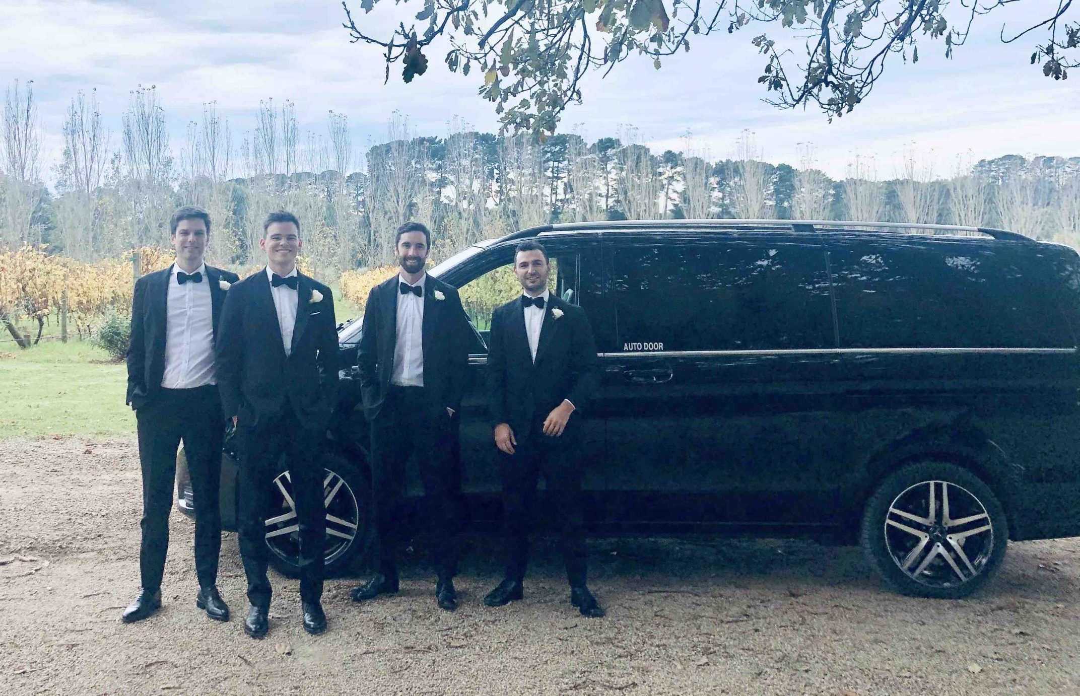 Luxury people mover van for wedding in Melbourne
